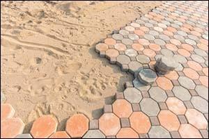 Installing paver bricks on patio